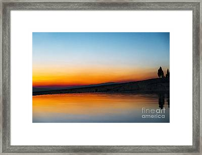 Framed Print featuring the photograph Pammukale by Yuri Santin
