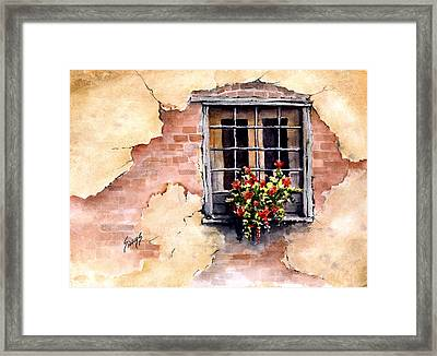Pampa Window Framed Print