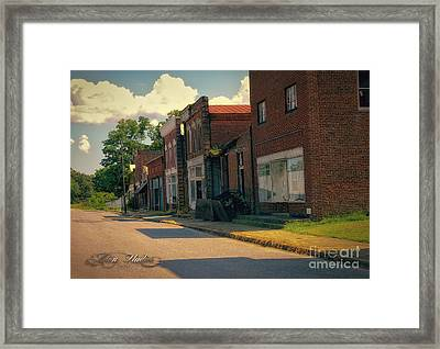 Pamplin City Main Street Abandoned Framed Print by Melissa Messick