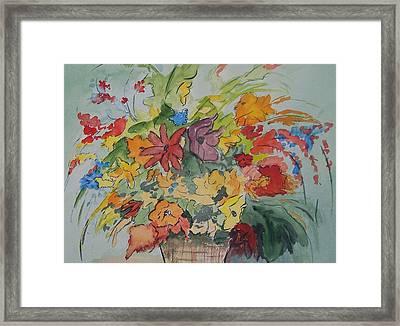 Pams Flowers Framed Print by Robert Thomaston