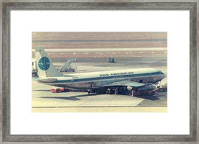 Pan Am 707-321 At Los Angeles International Airport Framed Print