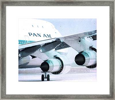 Pan Am 747 At Los Angeles International Airport Framed Print