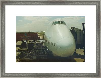 Pan American 747 At London Heathrow Airport Framed Print