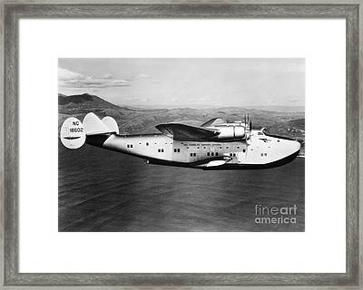 Pan American Clipper Framed Print by H. Armstrong Roberts/ClassicStock