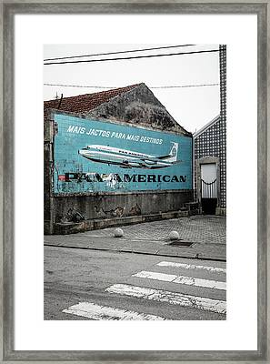 Pan American Vintage Ad II Framed Print by Marco Oliveira