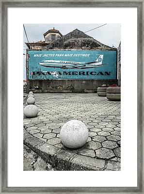 Pan American Vintage Ad Framed Print by Marco Oliveira