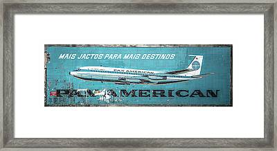 Pan American Vintage Ad V Framed Print by Marco Oliveira