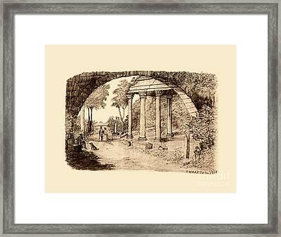 Pan Looking Upon Ruins Framed Print