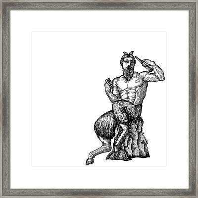 Pan Satyr Framed Print by Karl Addison