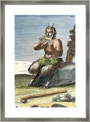 Pan, The Nature-god Framed Print by Granger