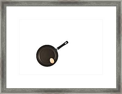 Pan With Egg Framed Print by Gert Lavsen