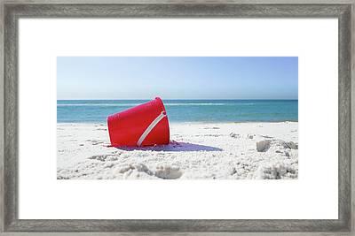 Panama Beach Florida Sandy Beach Framed Print