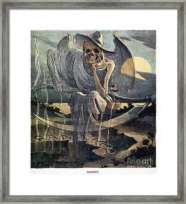 Panama Canal Cartoon, 1904 Framed Print