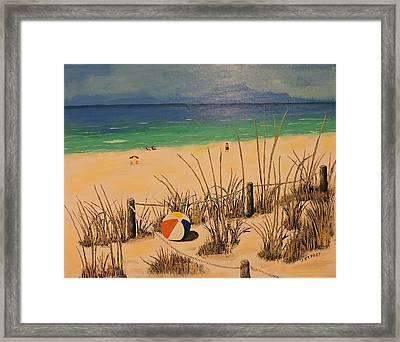Panama City Beach Ball Framed Print by Jerry Repasy