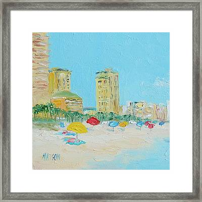 Panama City Beach Painting Framed Print by Jan Matson