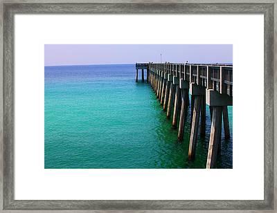 Panama City Beach Pier Framed Print by Toni Hopper