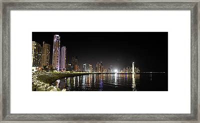 Panama City Night Framed Print