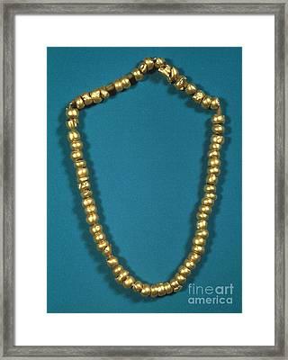 Panama: Gold Beads, C1000 Framed Print by Granger