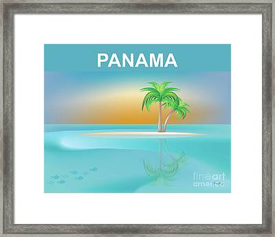 Panama Horizontal Scene Framed Print