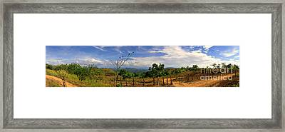 Panama Panorama Framed Print by Al Bourassa