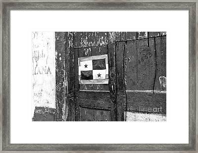 Panama Pride Mono Framed Print by John Rizzuto