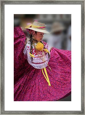 Panamanian Dancer 1 Framed Print