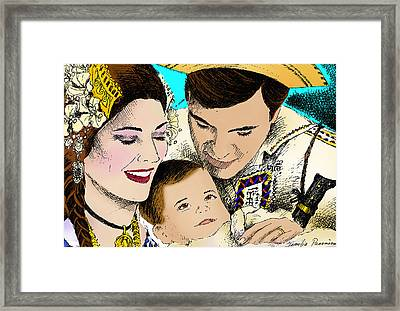 Panamanian Family Framed Print