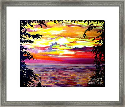 Panama.pacific Sunrise Framed Print by Anna  Duyunova