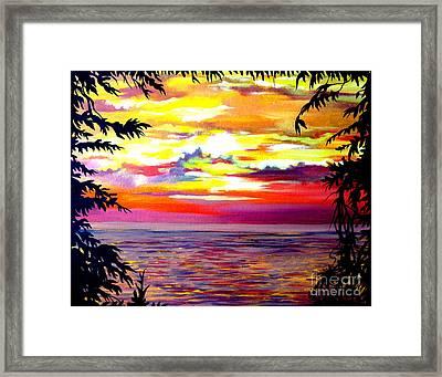 Panama.pacific Sunrise Framed Print
