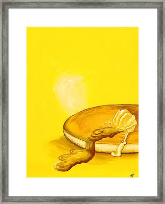 Pancake Framed Print by David Junod