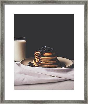 Pancakes For Breakfast Framed Print by Happy Home Artistry