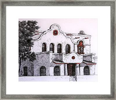 Pancho Villa Met Here Framed Print by Candy Mayer