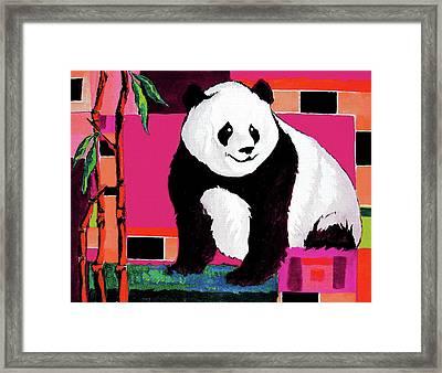 Panda Abstrack Color Vision  Framed Print