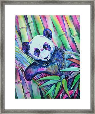 Panda Bliss Framed Print by Zaira Dzhaubaeva
