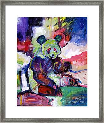 Panda Framed Print by David Lloyd Glover