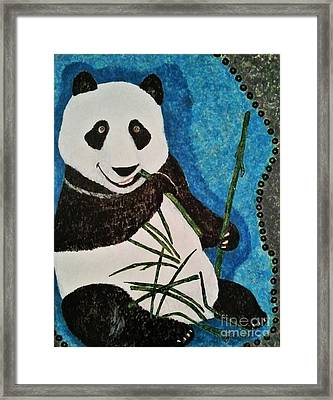 Framed Print featuring the painting Panda by Jasna Gopic