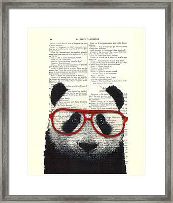 Panda Nursery Art Framed Print by Madame Memento