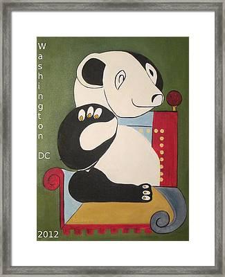 Panda Picasso Framed Print by Patricia Cleasby