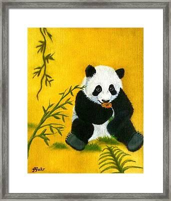 Panda Power Framed Print