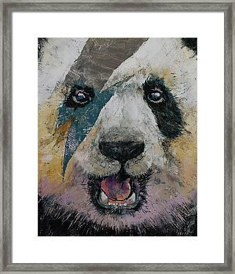 Panda Rock Framed Print