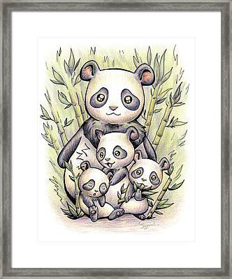 Endangered Animal Giant Panda Framed Print
