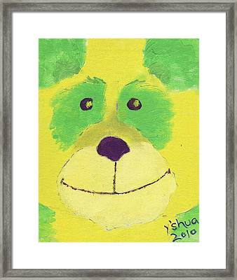 Panda Framed Print by Yshua The Painter
