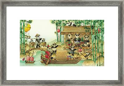 Pandabears Christmas 03 Framed Print by Kestutis Kasparavicius