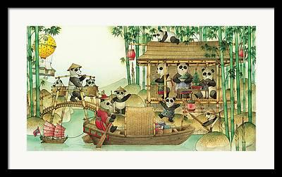 China Drawings Framed Prints