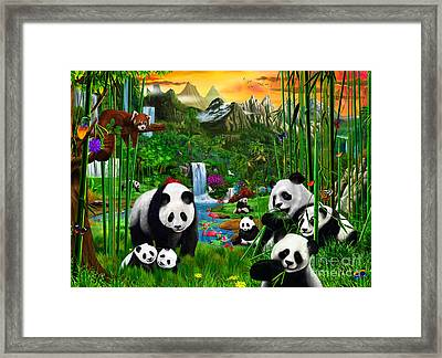 Panda's Paradise Framed Print