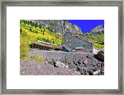 Framed Print featuring the photograph Pandora Mill - Telluride - Colorful Colorado by Jason Politte