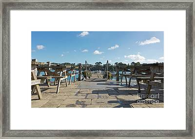 Pandora Pontoon, Cornwall Framed Print by Terri Waters