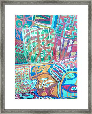 Panel Of Hand Painted Mondeo Framed Print