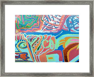 Panel On Hand Painted Ford Mondeo Framed Print