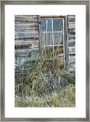 Panes Of The Past Framed Print